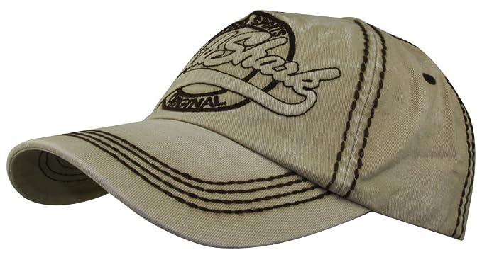 2be48a60270 MINAKOLIFE Men Vintage Rock Shark Washed Baseball Cap Hat (Beige) at ...