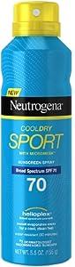 Neutrogena CoolDry Sport Sunscreen Spray, SPF 70 5.5 oz (Pack of 4)