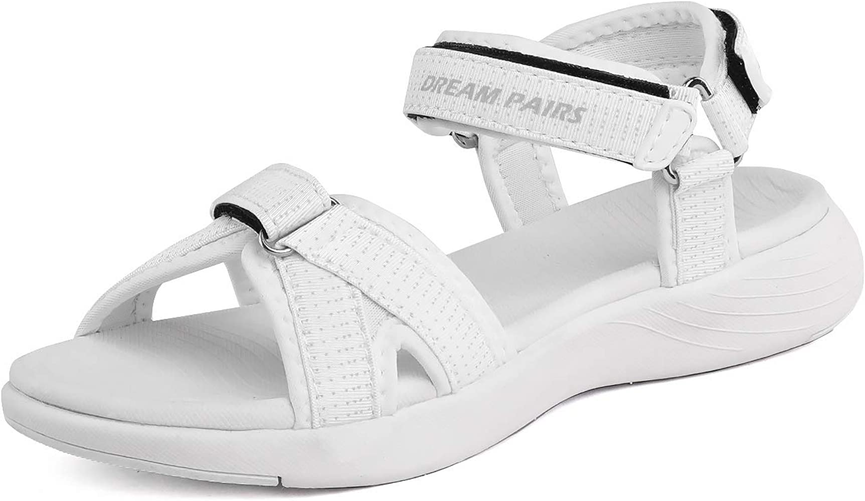 Amazon.com | DREAM PAIRS Women's Athletic Sport Sandals Hiking Sandal White  Size 5 M US QDL19001L | Sport Sandals & Slides