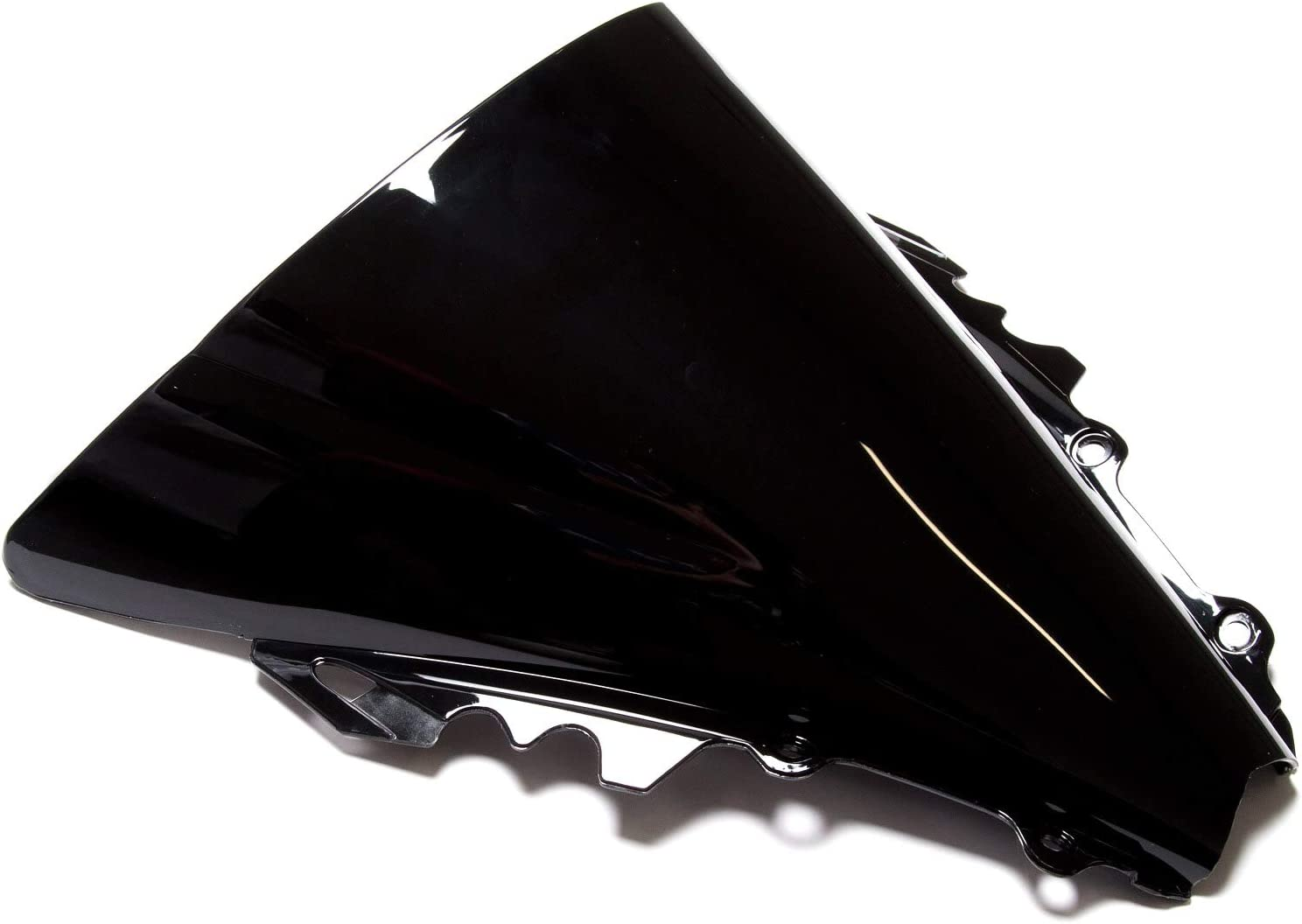 MPW Double Bubble Black Windshield Screen Yamaha YZF-R6 06-07