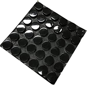 Self-Adhesive Rubber Feet Soft Close Cabinet & Furniture Bumpers Noise-Dampening Bumperset (15MM Black)