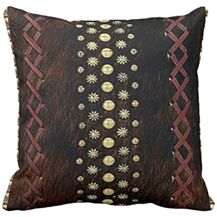 Amazon Throw Pillow Cover Colorful Tribal Western Style Leather Best Western Style Decorative Pillows