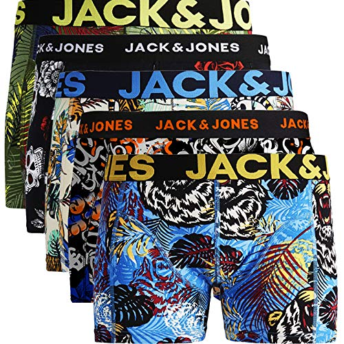 JACK & JONES Trunks 5er Pack Boxershorts Boxer Short Unterhose Mehrpack