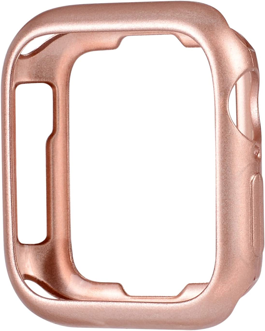 JSGJMY Soft TPU Case Compatible with Apple Watch 38mm 40mm Series 5,Series 4,Series 3,Series 2,Series 1 (Series 5/4/3 Rose Gold, 38mm/40mm)