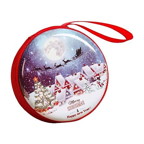 haodou Mini Monedero cremallera Monedero Navidad plástico ...
