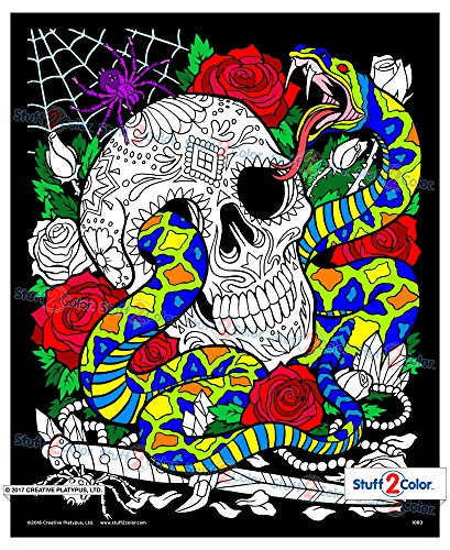 Halloween Print Off Coloring Pages (Snake Eyes - Fuzzy Coloring Poster)