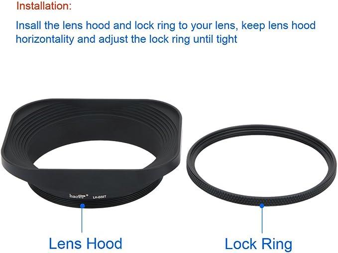 Haoge Lh B55t Gegenlichtblende Für Leica Apo Summicron Kamera
