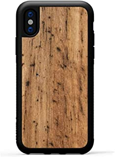 product image for Carved - iPhone Xs Case/iPhone X Case - Luxury Protective Traveler Case - Unique Real Wooden Phone Cover - Rubber Bumper - Eucalyptus