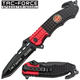 "1 X Just In! New! 4.5"" Closed Firefighter Rescue Folding Knife"