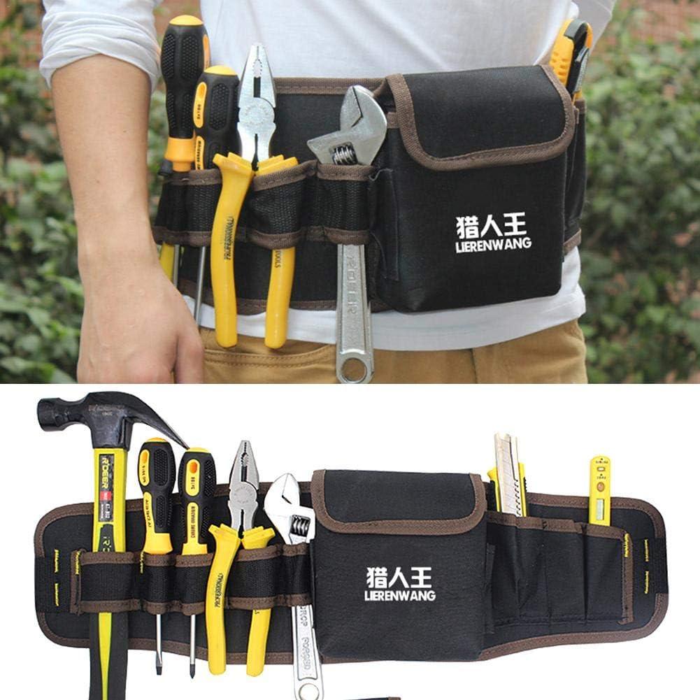 professionelle Hardware Elektriker Werkzeug-Kit multifunktionale G/ürteltasche Dickes Segeltuch Lamptti Werkzeugtasche f/ür den Haushalt
