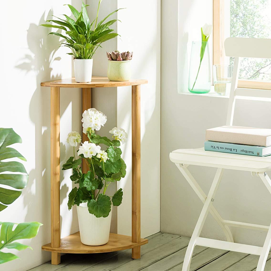 LRW Fan-Shaped Balcony Flower Rack Indoor Multi-Storey Living Room Flower Pot Rack, 70 Centimeters Tall