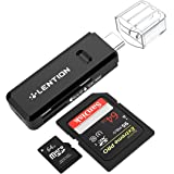 LENTION USB C Lettori schede di memoria con Ranura per Card SD / Micro SD, Adaptador Type C para Apple MacBook 12, MacBook Pro Touch Bar 2016 2017, Chromebook, Dell XPS, Typ C Smartphone & Tablet - Nero