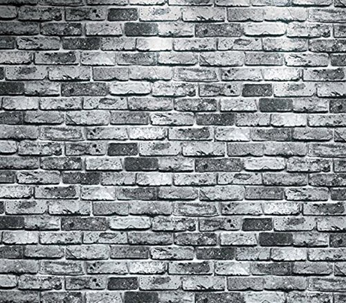 - Luxton Rustic Gray Brick Wallpaper (Unpasted), 3D Vintage Faux Brick Stone Wall Paper for Living Room Bathroom Kitchen Renovation Wallpaper Roll, 20.8 inch x 32.8 feet, 1 Roll Pack