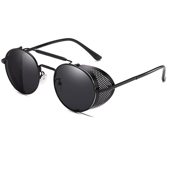 Cvoo Gothic Round Metal Sunglasses Men Women Vintage Punk Sunglasses Uv400 fbAyae