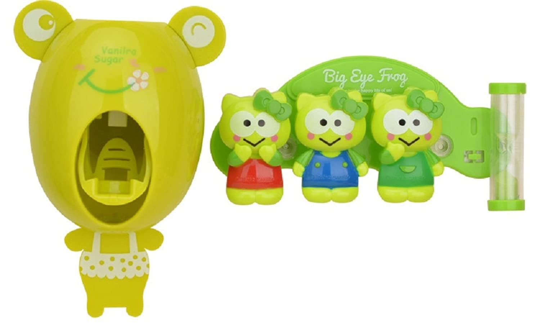 Reloj de arena temporizador de tres minutos titular de cepillo de dientes infantil de dibujos animados animal lechón tipo de pared de succión titular de ...