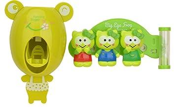 Reloj de arena temporizador de tres minutos titular de cepillo de dientes infantil de dibujos animados