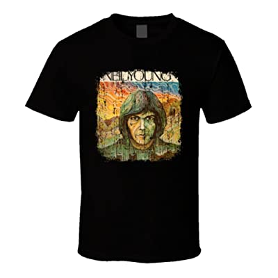 Neil Young 70s Classic Rock Vintage Band Worn Look Music T Shirt