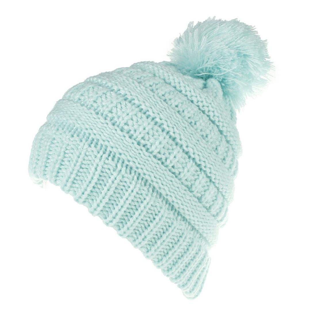 Molyveva Cute Newborn Knitted Wool Hemming Hat Warm Winter Hairball Hats