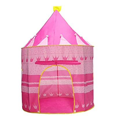 info for d409e 4e9ae PIGLOO®Kids Play Tent Indoor Outdoor - for Boys Girls Baby Toddler  Playhouse Princess House Castle Blue Foldable Tents with Carry Case