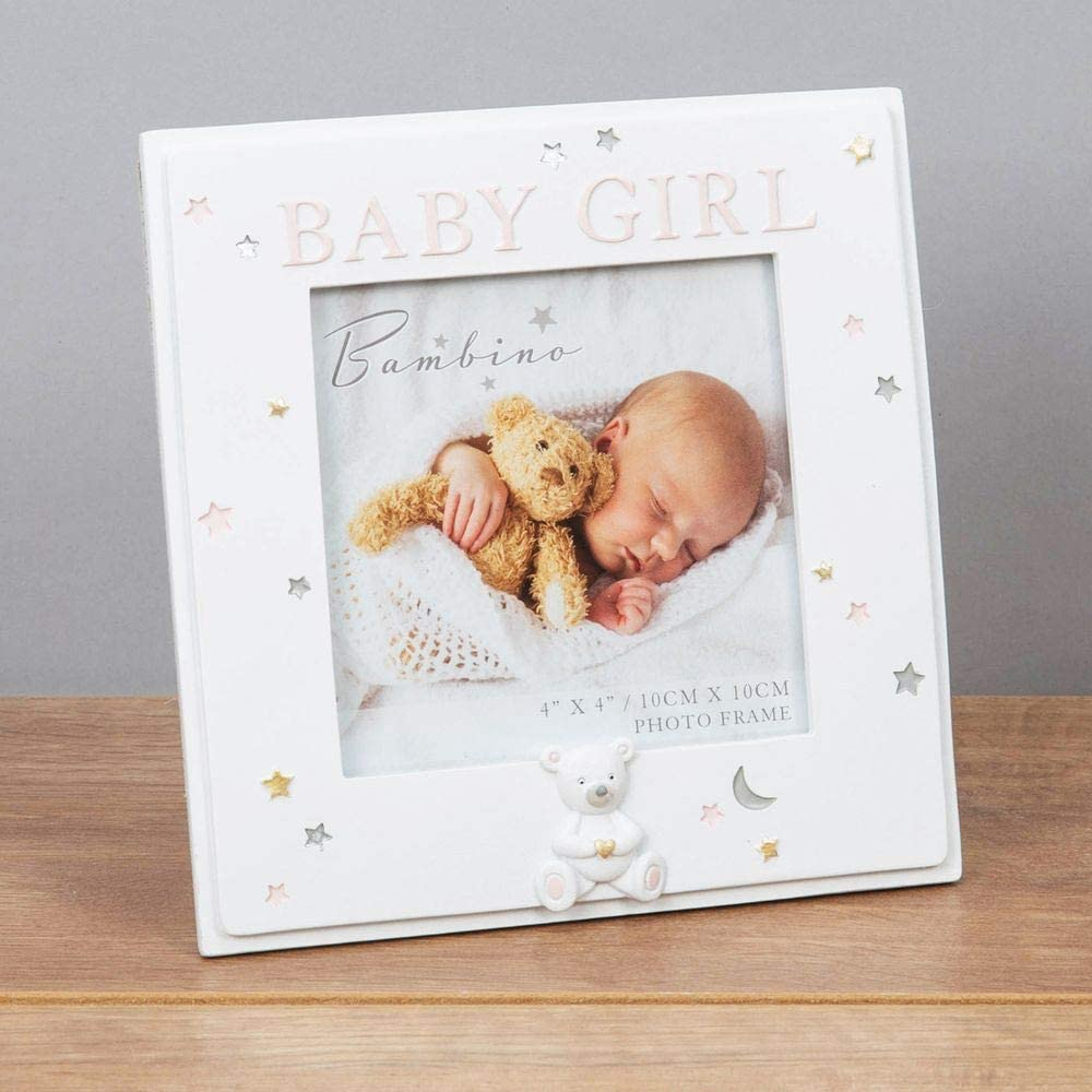 Widdop 4 x 4 Bambino Resin Baby Girl Photo Frame CG1633