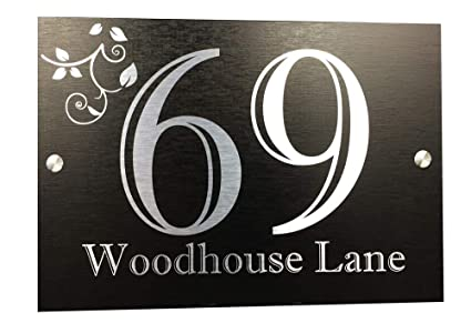 871b7756d7b Image Unavailable. Image not available for. Colour  Designer House Number  Plaques ...