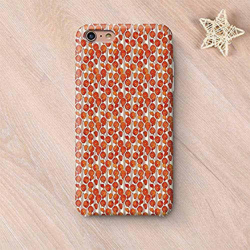(Floral Stylish Compatible with iPhone Case,Art Nouveau Style Poppy Flowers Retro Spring Summer Garden Foliage Petals Compatible with iPhone X,iPhone 6 Plus / 6s Plus)