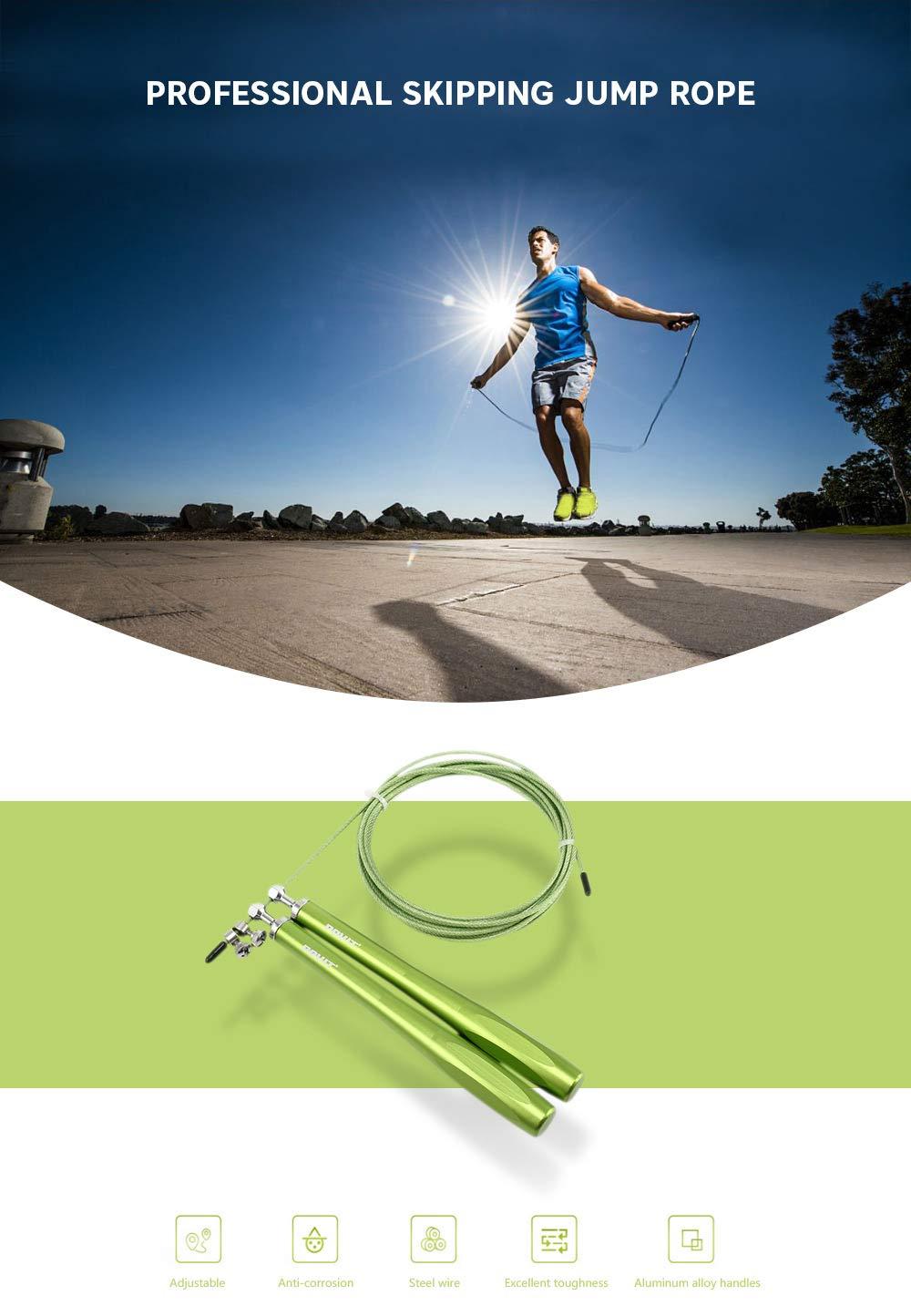 Zizule Cuerda de Saltar con Asas Ajustables de aleaci/ón de Aluminio para Entrenamiento de Fitness