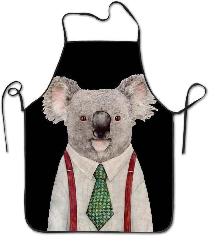 Lindo Delantal Cyte Mr Koala con Corbata Verde y Camisa Blanca ...