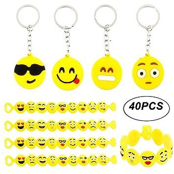 BigLion Llavero Emoji Keyring Keychain Pulsera de Silicona ...