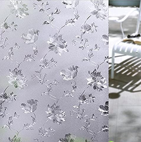 YINGLI Premium 2D Static Cling No-Glue Stained Glass Decorative Window Film, Vinyl Scrub Privacy Window Film (60x200cm, (Carpet Static)