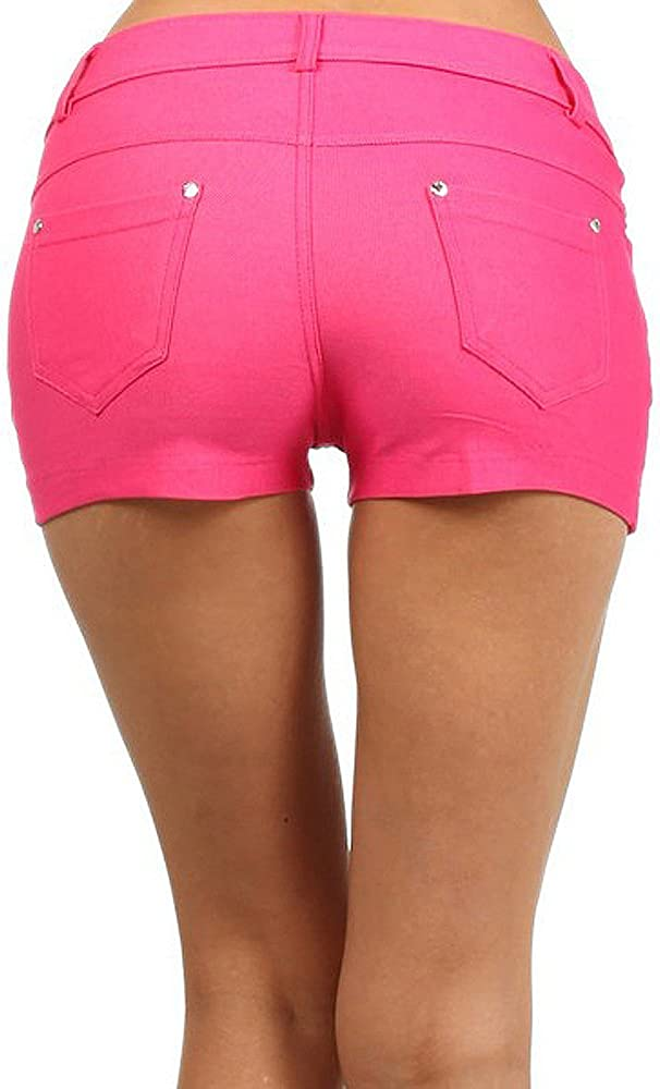 Yelete Fashion Mic Womens Casual Summer Cotton Blend Stretchy Shorts