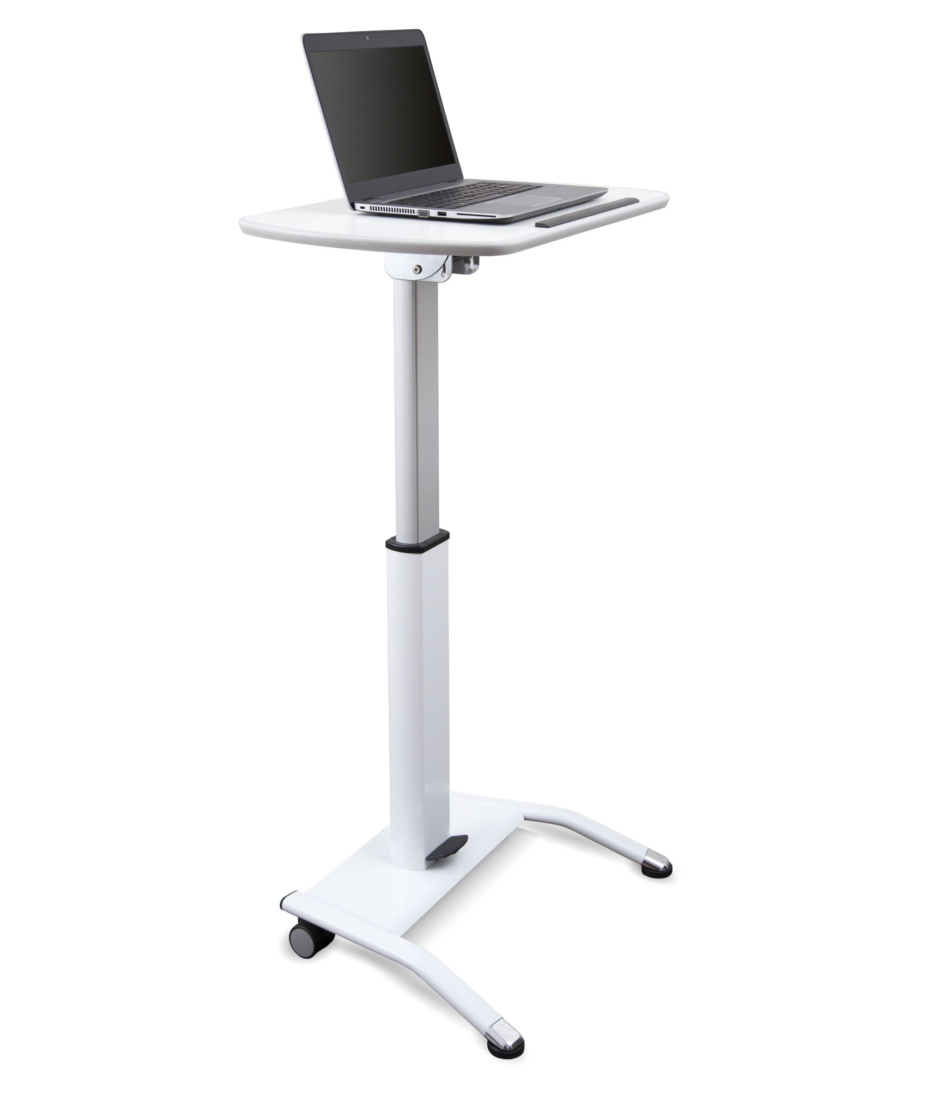 Pneumatic Adjustable-Height Lectern (White)