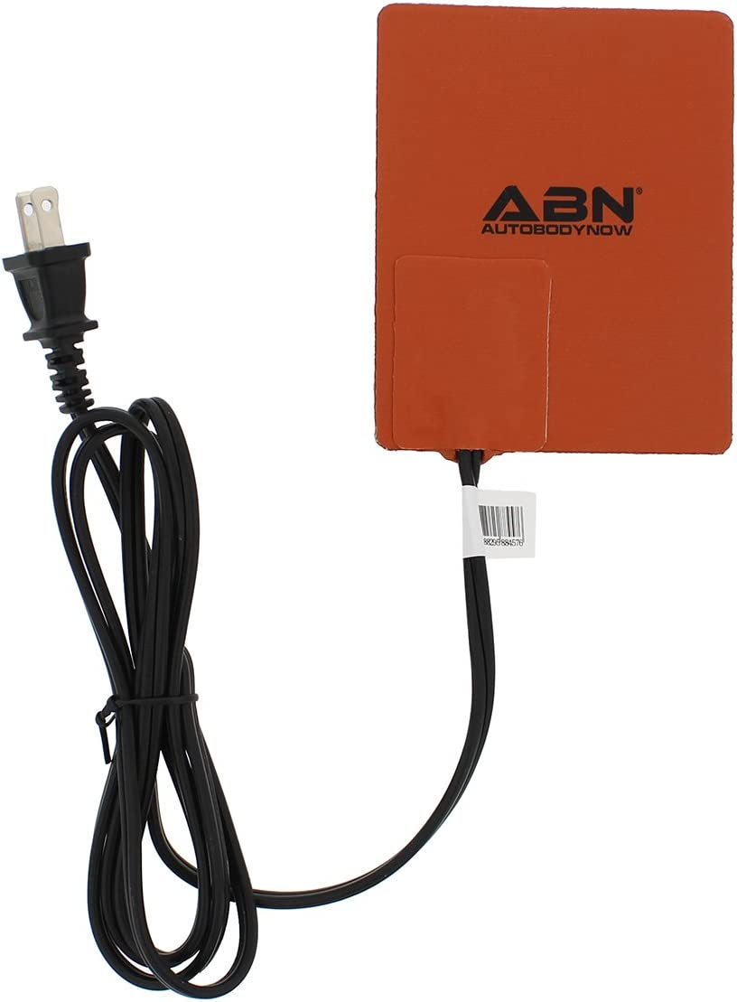 Abn Automotive Electric Silicone Heating Pad, 4in x 5in 120V 150W – Waterproof High Heat Transfer Car Heated Wrap Mat