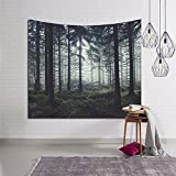 Homieco Sunset Forest Ocean and Mountains Tapestries Large Wall Hanging Tapestry Bohemian Hippie Tapestries for Living Room Bedroom Dorm Decor 78.7 x 59inches