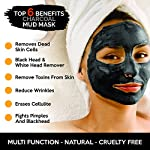 Activated Charcoal Mud Mask - Made in USA - For Deep Cleansing & Exfoliation, Pore Minimizer & Reduces Wrinkles, Acne Scars, Blackhead Remover & Anti Cellulite Treatment, Face Mask & Facial Cleanser.