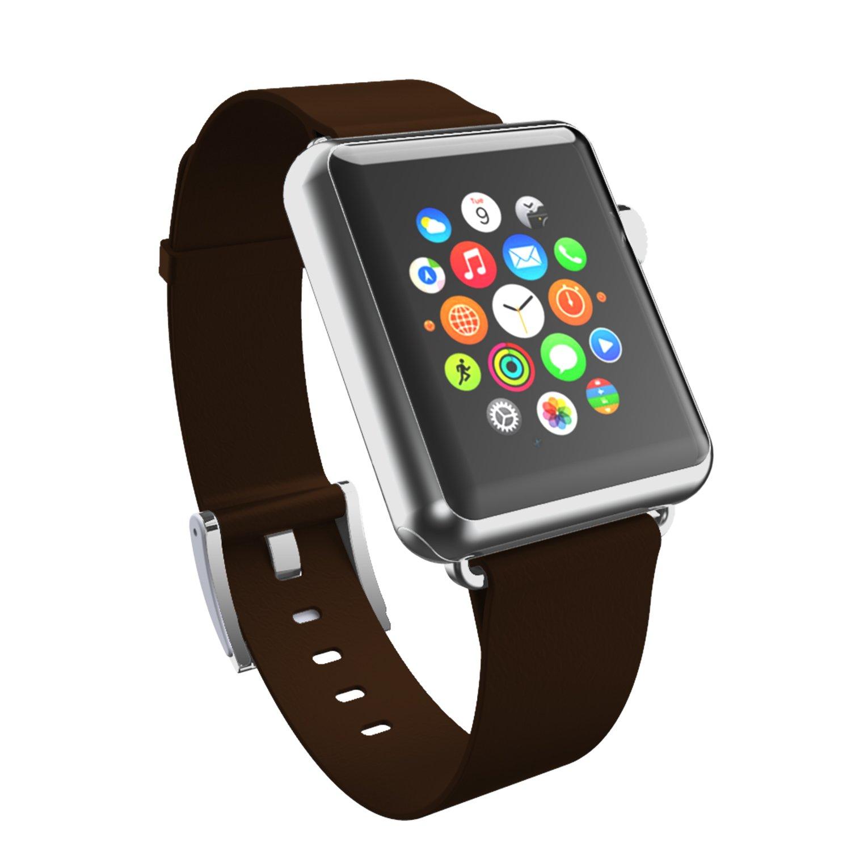 Incipio-band cuir véritable pour tous les modèles apple 38 mm/montre montre apple iPhone/apple watch montre sport edition -marron foncé: Amazon.fr: High- ...