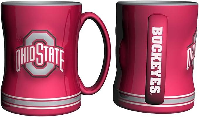 Boelter Brands Ncaa Ohio State Buckeyes 338896 Coffee Mug Team Color 14 Oz Sports Outdoors Amazon Com