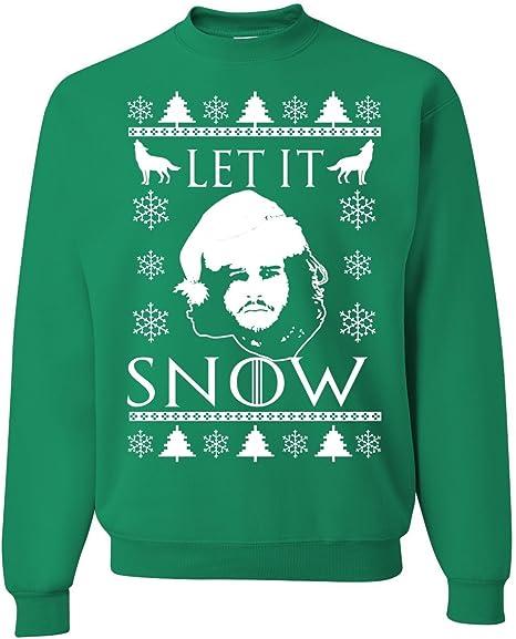 L, Orange Allntrends Adult Sweatshirt Snow Targaryen Trendy Top