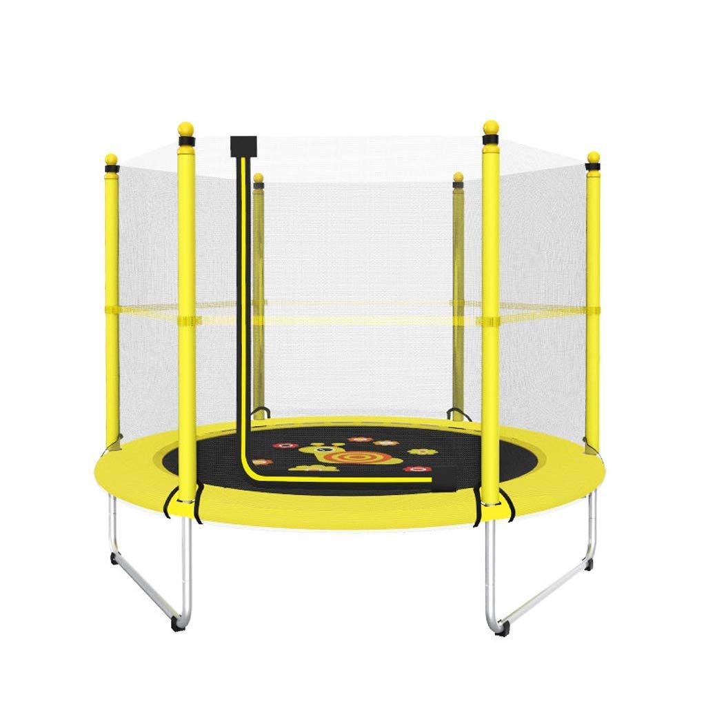 60-Zoll-Rund-Kids Mini-Jump mit Sicherheits-Enclosure, Basketball Hoop und Armlehne-Geburtstagsgeschenke für Kinder, für Jungen und Mädchen
