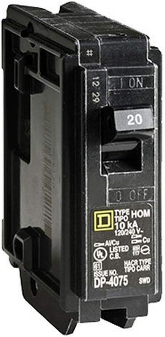 Square D HOM120 20 A Miniature Circuit Breaker for sale online