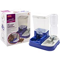 Pet Feeder 2 in 1 Automatic Water and Food Dispenser for Dogs and Cats Self Feeding Bowl