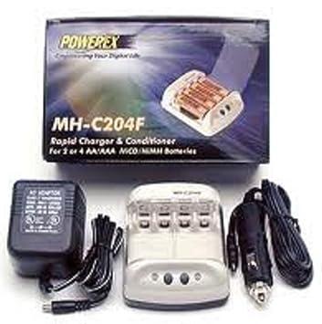 Amazon.com: Powerex mh-c204 °F Cargador rápido inteligente ...