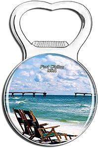 Weekino USA America Fort Walton Beach Fridge Magnet Bottle Opener Beer City Travel Souvenir Collection Strong Refrigerator Sticker