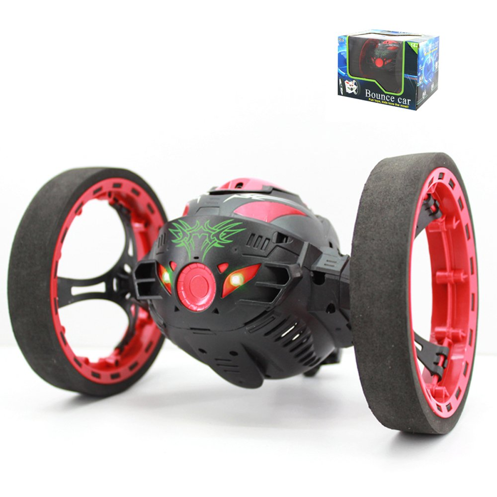 7color 2.4G Remote Control Bounce car,Jumping Robot with Music Fun Toys for Kids