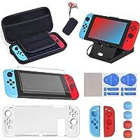 SUPERSUN 16 delar för Nintendo Switch tillbehörskit, bärväska och skärmskydd för Nintendo Switch | för Nintendo Switch…