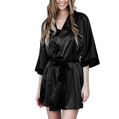 097d017ddd Subfamily Femme Robes de Chambre et Kimonos Peignoir Robe de Chambre Kimono  Femme Sortie de Bain