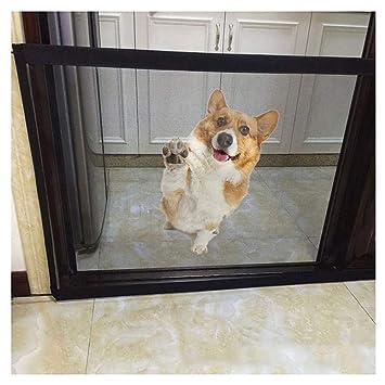 KOBWA Magic Gate Portátil Plegable Protector de Seguridad 2018 Mascota Seguridad Puerta Malla Mascota Gato Perro