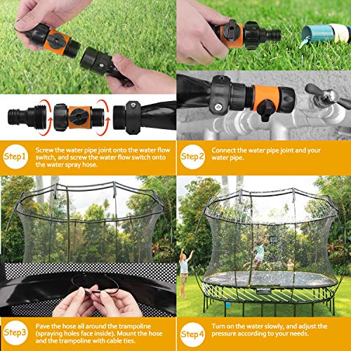 Trampoline Sprinkler-Trampoline Sprinkler for Kids Outdoor Spary Water park F...
