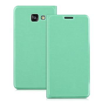 kwmobile Funda para Samsung Galaxy A5 (2016) - Carcasa con Tapa Tipo Libro para móvil - Case Protector en Menta