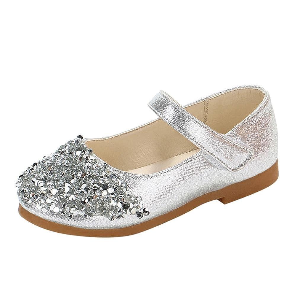 Amlaiworld Bambine ragazze Bling cristallo scarpe di pelle partito principessa scarpe Amlaiworld_1569
